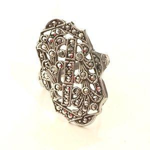Authentic Art Deco Vintage Marcasite Ring